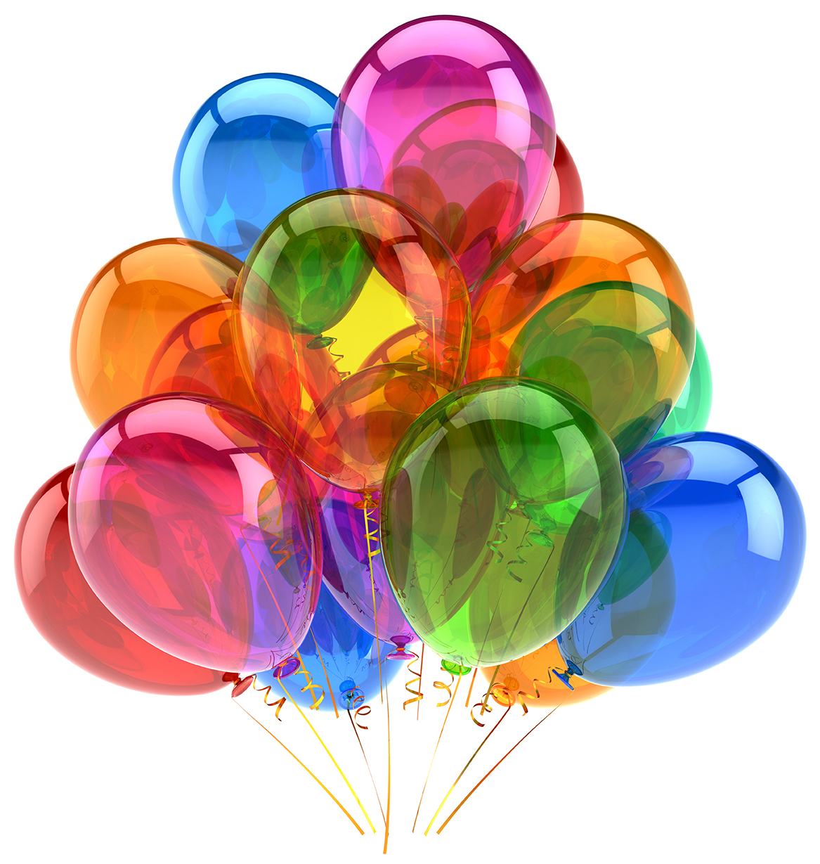 Balloons party birthday balloon decoration colorful translucent.