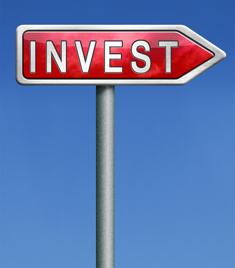 stock investment or bank invest fund market growth