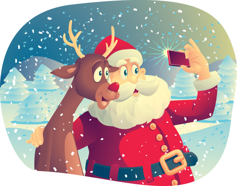 bigstock-Santa-Claus-and-the-Reindeer-T-74028337