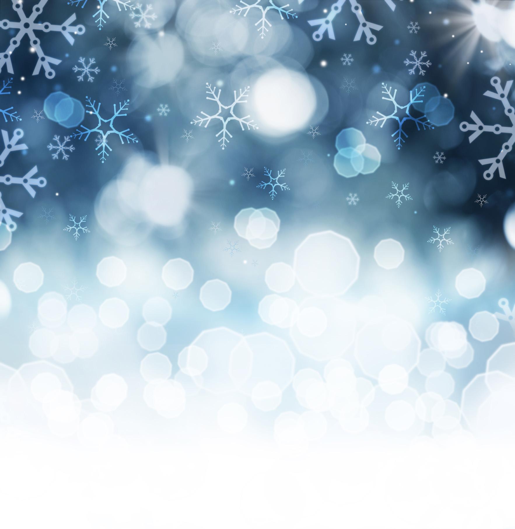 Winter Holiday Snow Background. Christmas Abstract Defocused Bac