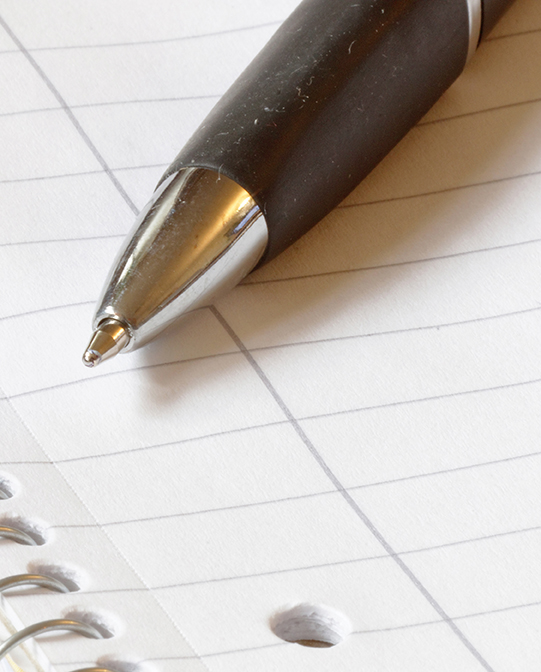 Ballpoint Pen On Blank Paper
